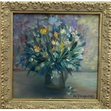 """Картина маслом """" Букетик Цветов"""" в раме , красивый подарок или украшение собственного интерьера ."""