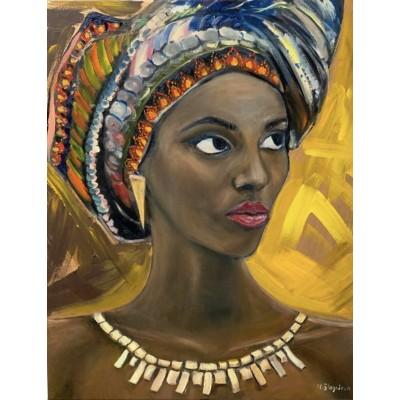 Купить картину маслом -  портрет африканской женщины