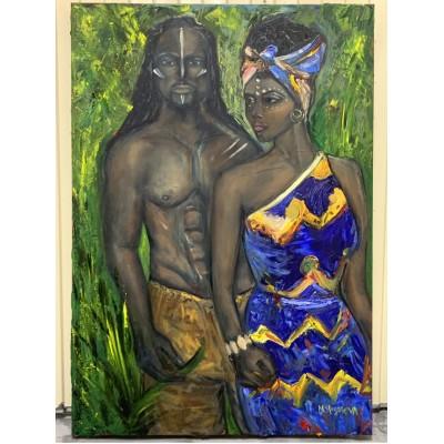 Купить картину маслом  африканской тематики