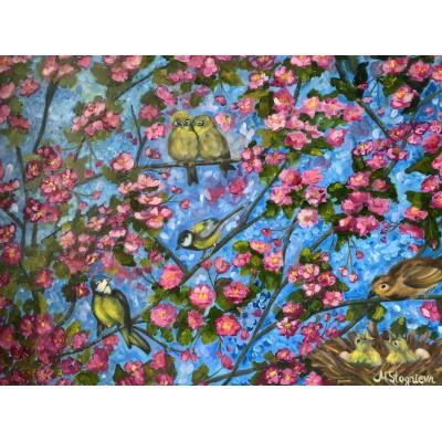 Картина маслом « Весенний цвет»