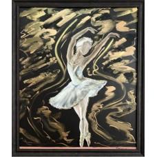 """Оригинальная Картина на холсте маслом """" Прима- балерина"""" Размер : 50*60 см"""