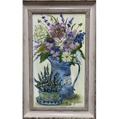 Купить картину маслом на холсте - цветы , прованский стиль , шебби стайл