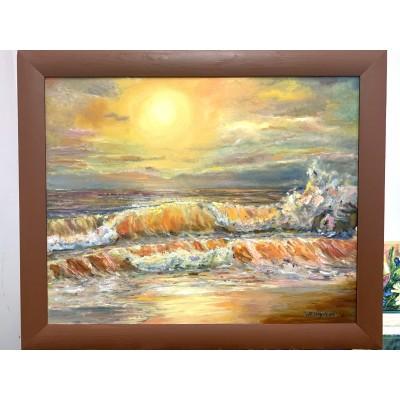 Купить картину маслом на холсте море , морской пейзаж