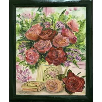 купить картину маслом розы