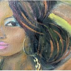 Оригинал картина маслом на холсте 20*24 обнаженная девушка , ню , девушка топлес