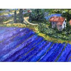 Оригинальная Картина маслом  на холсте «Прованс» 60*80 см