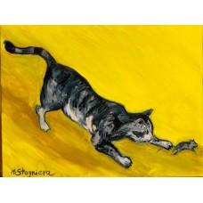 """Картина на холсте маслом """" Game over Jerry """" , оригинальная живопись , интерьерная живопись , картины художника"""
