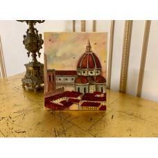 Оригинальная Картина Маслом на холсте « Флоренция». *Размер : 20*25см