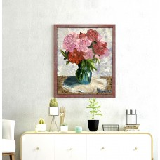 """Оригинальная Картина Маслом на холсте  Размер : 50*60 см """" Свежесть пионов"""""""
