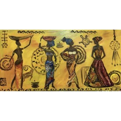 Этническая африканская тематика - купить картину маслом на холсте.