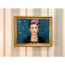 Портрет Фриды Кало маслом на холсте , размер 30*40 см , оригинал