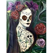 """""""Santa Muerte"""" оригинальная картина маслом, на холсте 70*80 см"""