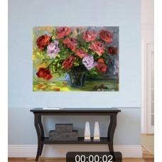 оригинальная Картина маслом на холсте «Благоухание » размер 35 *45 cm
