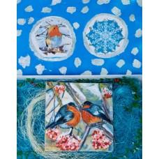 """Картина маслом """" Снегири"""" в подарочной упаковке , живопись , птицы , картины"""