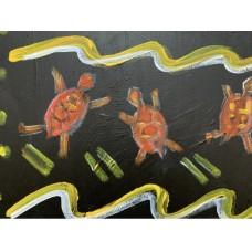 Оригинальная картина , акрил , 120 * 80 см, абстракция , африканская тематика