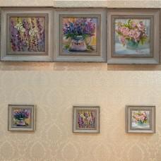 Серия из трех картин в раме « Весна»